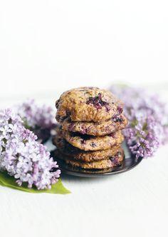 recept havrekakor med vit choklad och blåbär