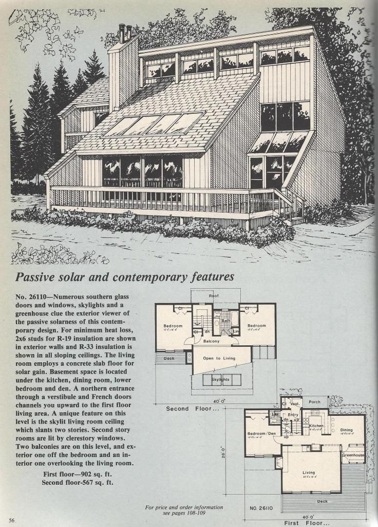vintage house plans passive solar - Fjord Solar Home Plans