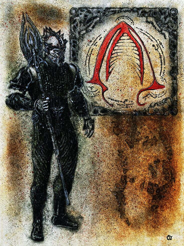 A Hellraiser and Justice League tribute collection, the Legion of Dominium Gash includes the Cenobite Trident, the symbol of sacrifice for the syndicate.  #hellraiser #justiceleague #clivebarker #dccomics #conceptart #horror #scifi #darkart #macabre #watercolor #charcoal #pastel #graphite #dippen #gothic #heavymetal #industrialmusic #gouache #creepy #sinister #ambient #twisted #morbid #aquaman