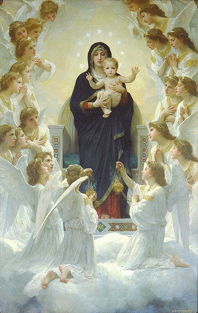 Bouguereau - The Virgin Mary with Angels