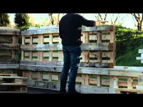 """#PalletShelter  The french company Sofrinnovpatented a system of small units allowing pallets to fit perfectly together. They teamed with one of the main pallet manufacturer PGS to promote a pallet shelter called """"Rescooz""""that can be built by one single man in"""