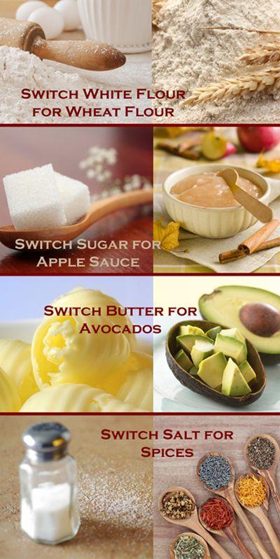 Healthy Substitutions for Sugar, Salt, Butter & Flour | IdealHomeGarden.com