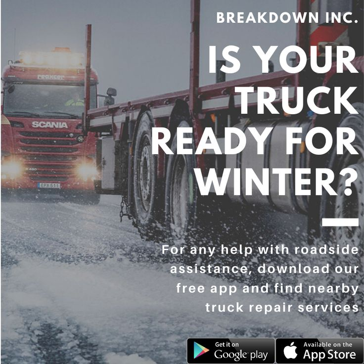 "Our ""Breakdowninc"" Mobile App helps truck operators to"