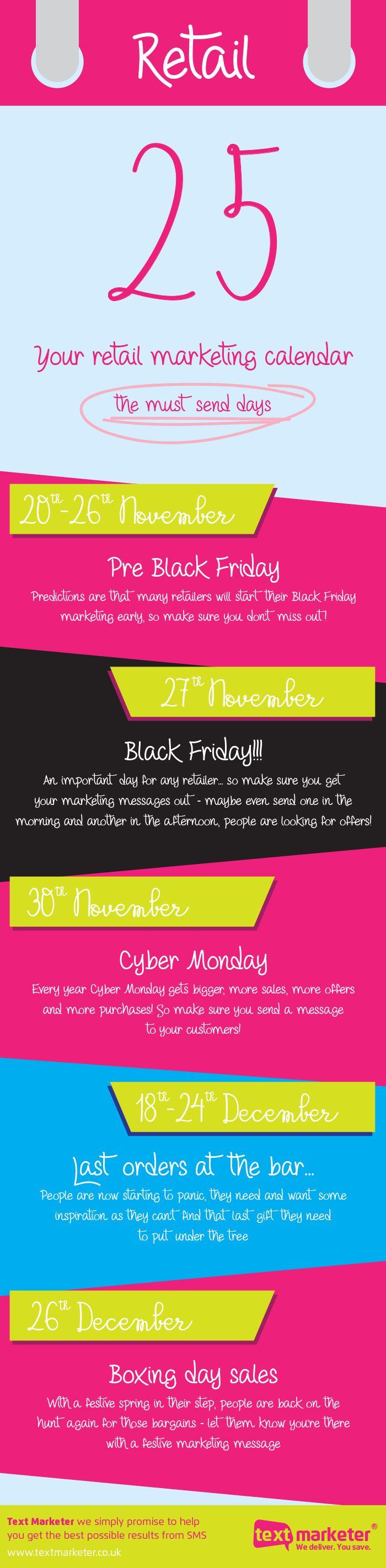 Your Retail Marketing Calendar #Infographic #Retail #Marketing