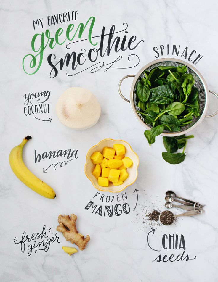 A healthy and delicious green smoothie recipe to feel energized in the mornings on Lily & Val Living