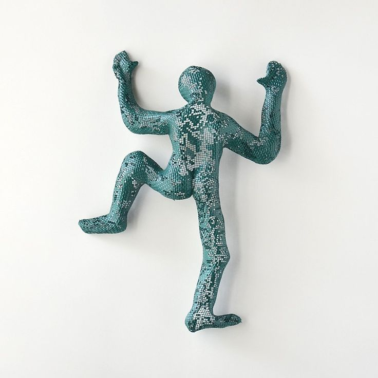 Climbing Figure, metal wall art, Unique gift, wall hanging, Metal art, 3d wall art, wall climbing. This unique sculpture of climbing man is one of a kind and made of steel wire mesh. The climbing man is completely hollow, therefore it is very light. There is no use of internal mold or construction. It is covered with material (Paverpol) that gives the sculpture is strength, closes some of the holes of the wire mesh so it is not easy to bend. This piece can be placed inside or out. It is...