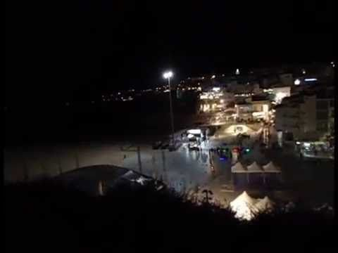 Albufeira Old Town Beach by night - YouTube