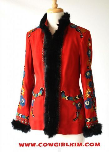 """Brands :: Double D Ranch :: DOUBLE D RANCH """"COLOR OF THE WIND"""" SUEDE FUR JACKET - Native American Jewelry
