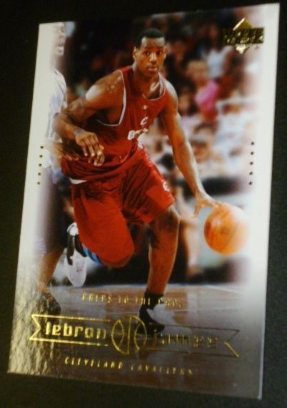 2003 LeBron James Cleveland Cavaliers Upper Deck Baseball Card Preps to the Pros #ClevelandCavaliers