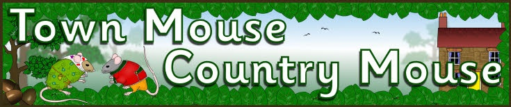 Town Mouse Country Mouse display banner