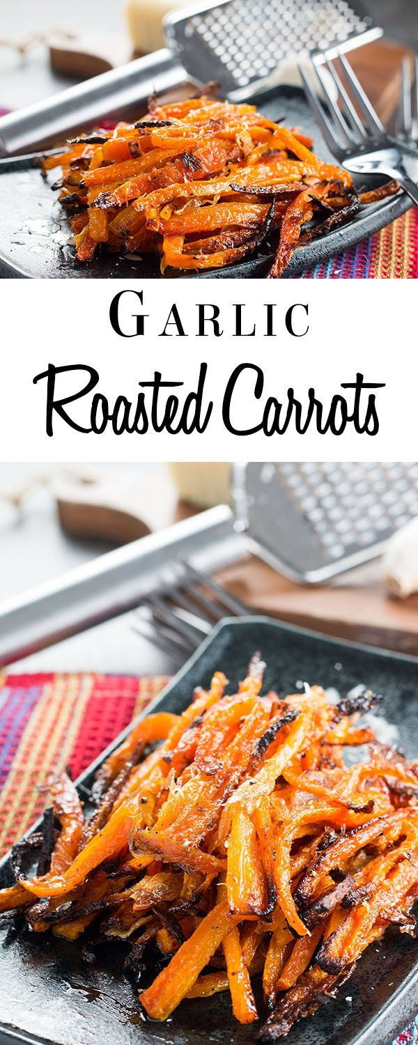 This side dish recipe for Garlic Roasted Carrots is loaded with garlic and Parmesan cheese. They are so tender and full of flavor that they're sure to be the favorite side of your holiday dinner.
