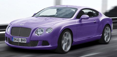Purple Bentley Continental GT