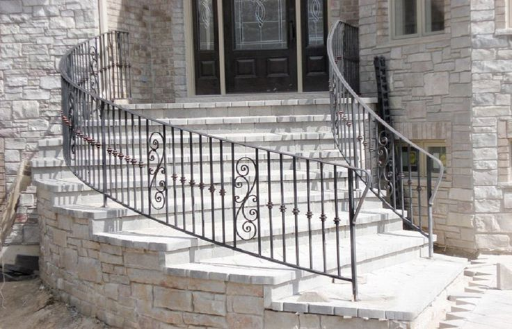 Ornamental Curved Metal Railing Custom Railing Railing