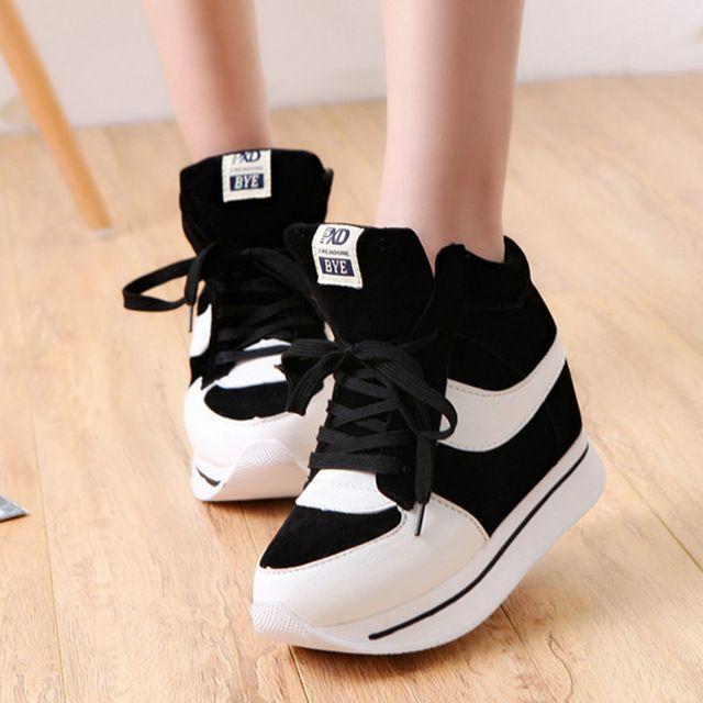 Бесплатная доставка обувь женщина увеличение осень стиль свободного покроя студент Zapatos Mujer Zapatillas Deportivas 36 s