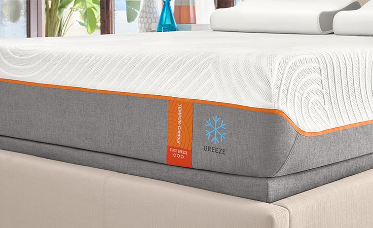 The cooling technology of TEMPUR-Breeze® is available in every Tempur-Pedic® collection. The TEMPUR-Contour Elite Breeze® was made for hot sleepers who prefer a medium-firm mattress.