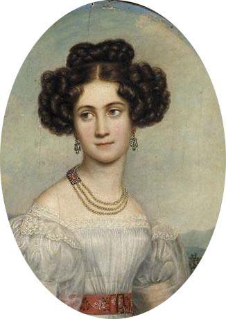 Prinzessin Ludovika Wilhelmine von Bayern, spätere Herzogin in Bayern (1808-1892). Tochter von König Maximilian I. Joseph und seiner zweiten Frau Prinzessin Karoline von Baden.