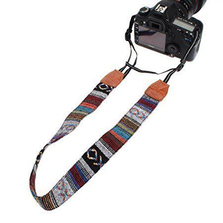 Vintage cámara de hombro suave multicolor Videocámara universal Correa Cinturón Cuello para DSLR Nikon Canon Sony Olympus Samsung