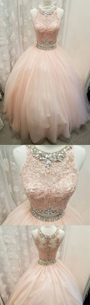 Elegant Lace Crop Top Pink Tulle Ball Gown Quinceanera Dresses Two Piece 296 from Morden Sky Customer service mail: mordensky@outlook.com Phone number is necessary information for shipping please leave us your phone number and your occasion date. 1.if you need customize the dress color and size please note me your color and size as below: Occasion Date:________ color _________(picture
