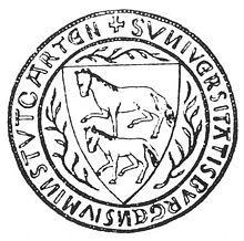 Erstes Stuttgarter Wappen 1286