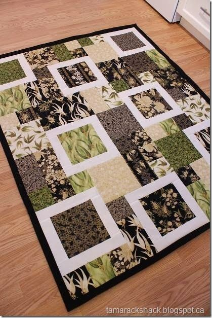 I've made this quilt a couple of times with one of my quilting bees..it always comes out stunningly different depending on the fabrics chosen...Love this pattern!