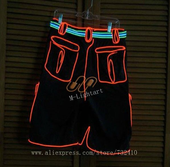 Summer new pants stage luminous EL light bar equipped with the influx of people