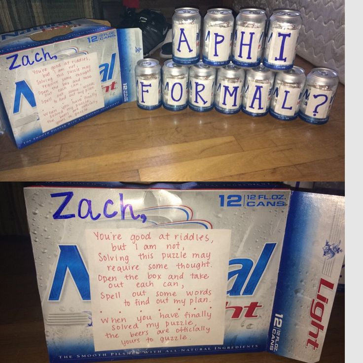 Way to ask to sorority formal