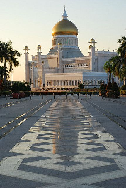 Bandar Seri Begawan, Brunei - We had a family picture right at those tiles when we went to Brunei last summer of 2001.
