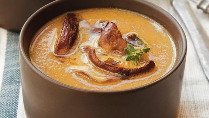 Caramelized Onion and Mushroom Bisque