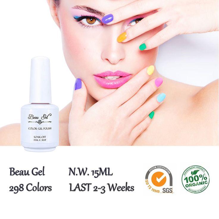Beau Gel 298 Colored UV Gel Nail Lacquer 15ml Gelpolish Cheese Candy Enamel Semi Permanent Nail Polish UV Gel Curing