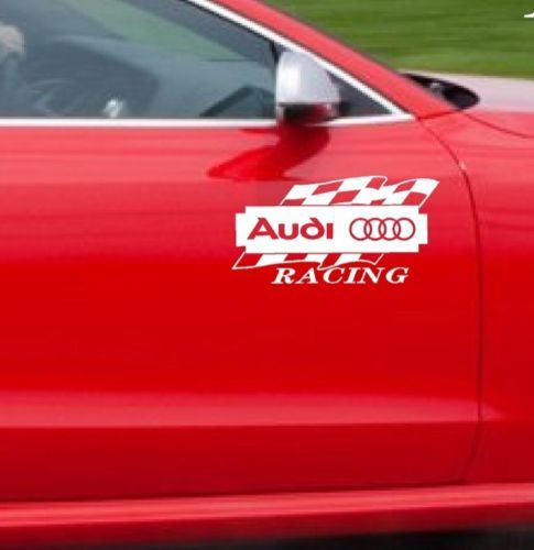 Audi A3 And A4 >> 2 AUDI RACING A3 A4 A5 A6 A8 Q3 Q5 Q7 TT RS4 S4 Decal sticker | Audi decals stickers | Pinterest ...