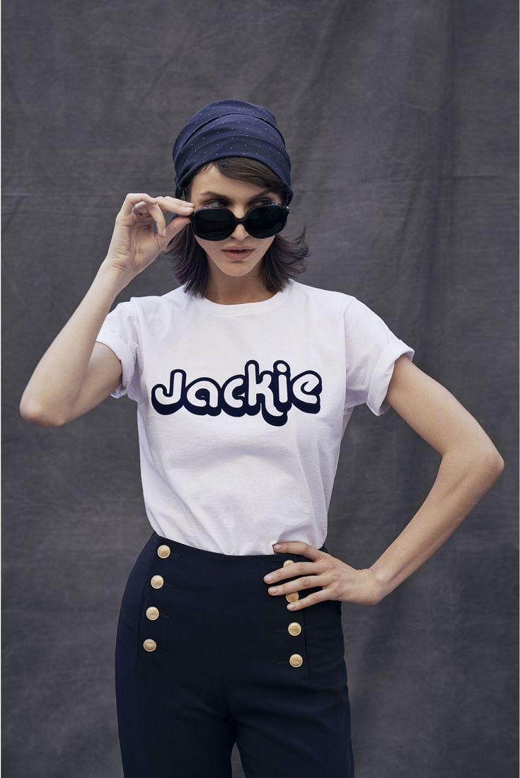 Gérard Darel imagine une collection inspirée de Jackie Kennedy. On adore le pantalon à ponts.