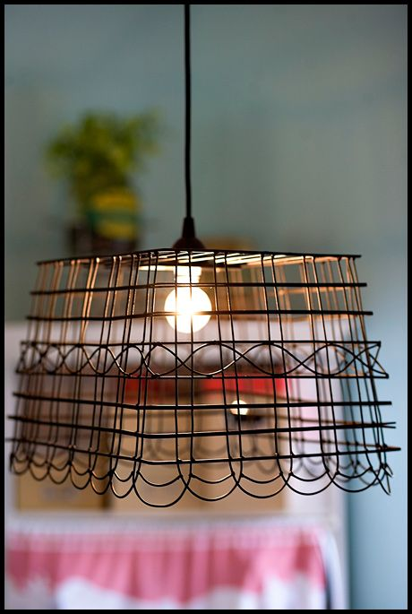 Wire Basket Lamp Shade