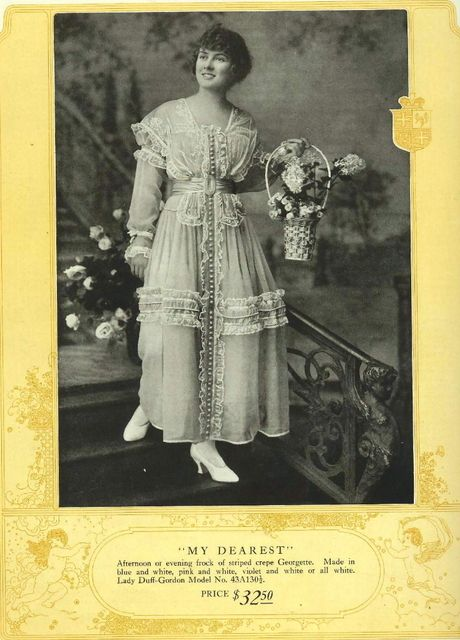 from Lady Duff Gordon for Sears & Roebuck Catalog- Spring/Summer 1917