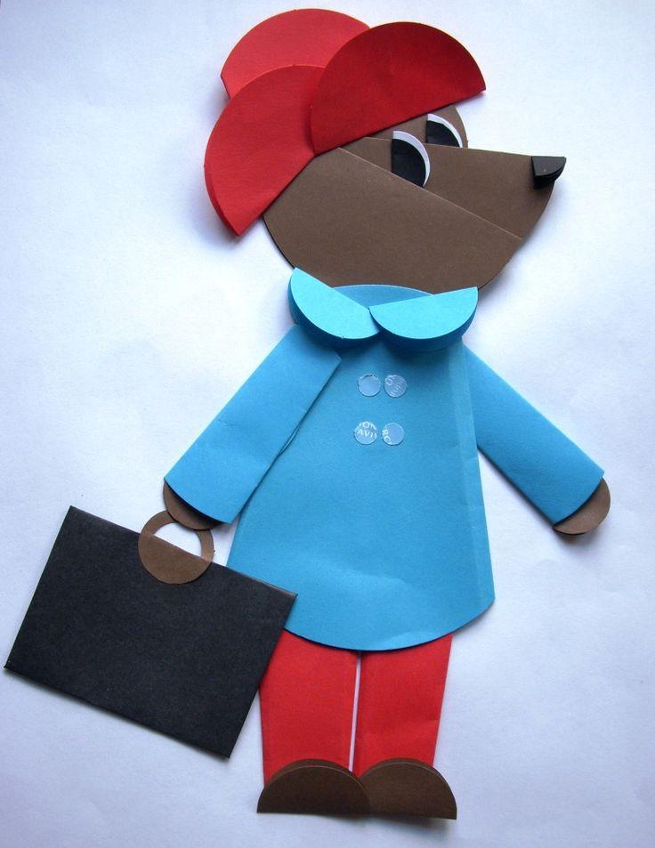 personajes de cuentos infantiles Origami - oso Paddington