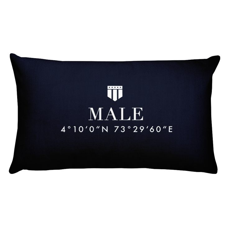 Male, Maldives Pillow with Coordinates