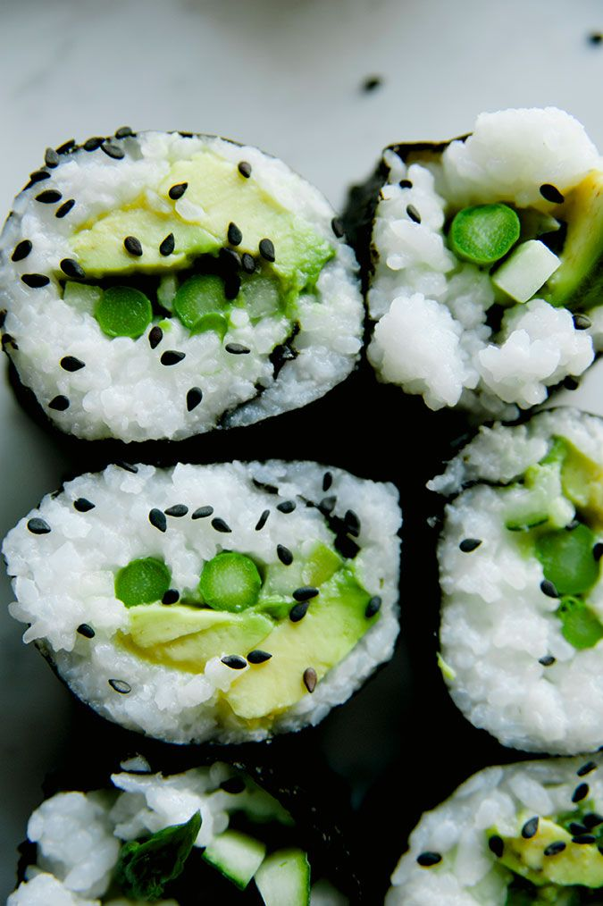 Vegan Green Roll sushi
