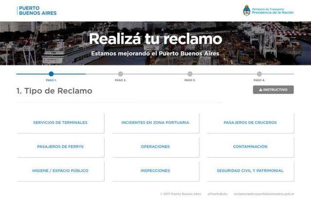 Noticias | Comercio Exterior    EL PUERTO BUENOS AIRES LANZÓ LA VERSIÓN 2.0 DEL SITIO DE RECLAMOS ON-LINE