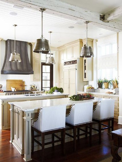 love the 2 islands rustic ceiling light fixtures and vent a hood