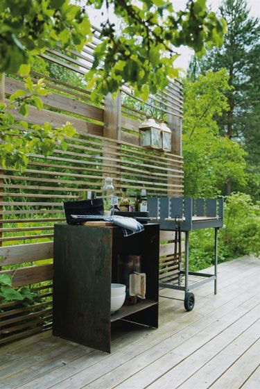 deck screen - use that bamboo