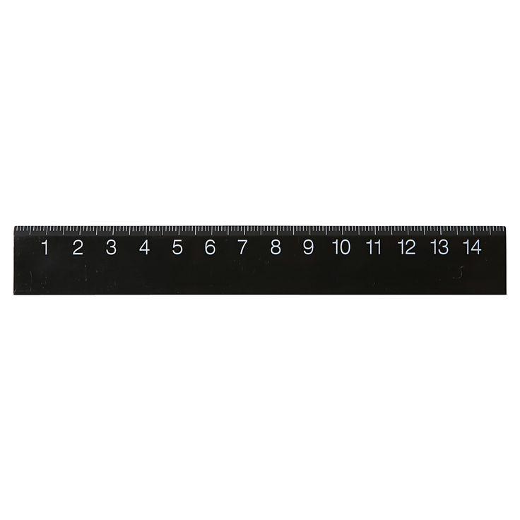Black Ruler - 15cm