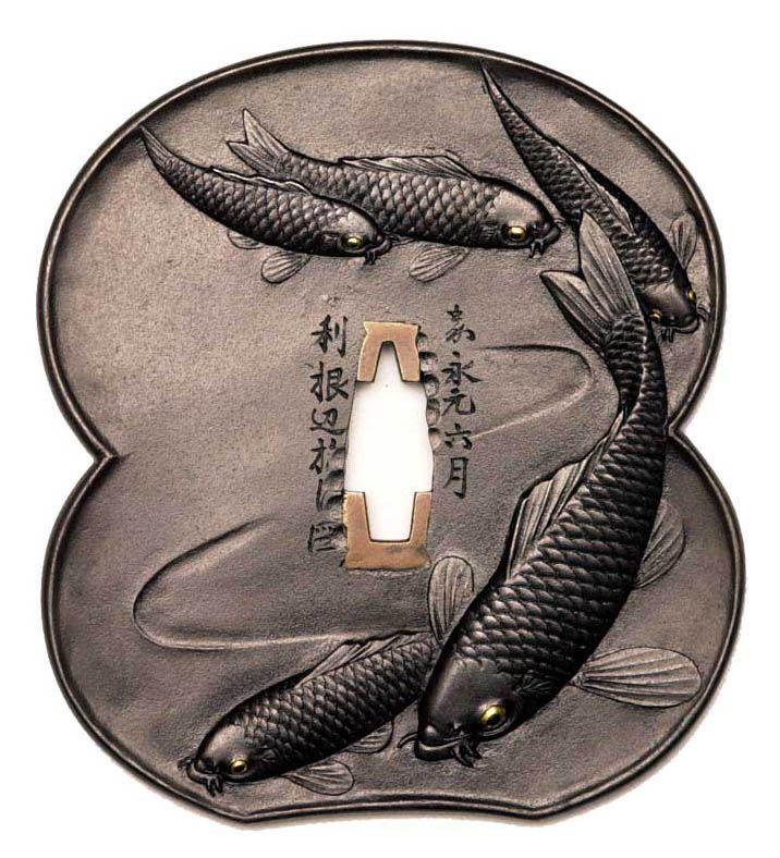 Japanese sword guard, Tsuba 鍔