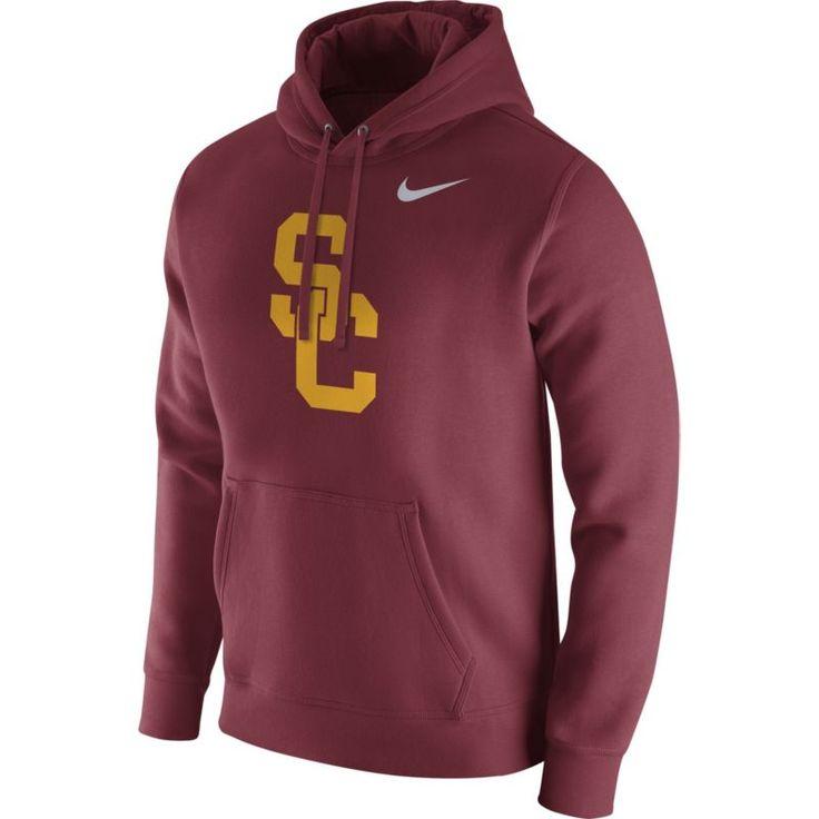 Nike Men's USC Trojans Cardinal Club Fleece Hoodie, Size: Medium, Team