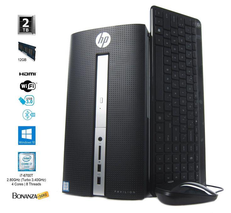 HP Pavilion 510-p114 Desktop | Intel core i7-6700T 2.8GHz | 12GB RAM | 2TB HDD