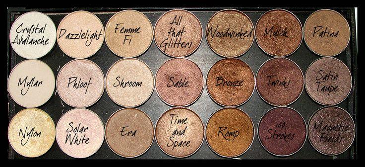 MAC Shimmery Neutral Eyeshadows