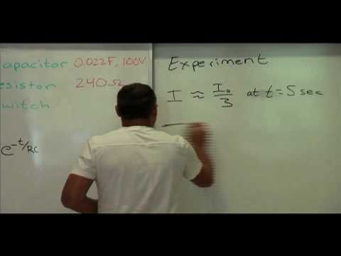 Demonstration and explanation of the RC time constant using a light bulb.  Video by James Dann.