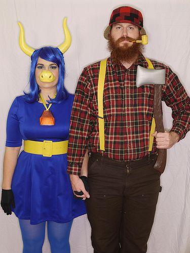 paul bunyan babe the blue ox couples costume halloween - Halloween Costumes With Facial Hair