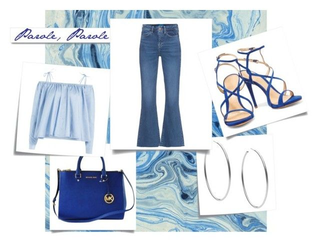 """ATUENDO VERANO"" by ladydianasolerfernandez on Polyvore featuring moda, Michael Kors, Sandy Liang, M.i.h Jeans, Schutz, Post-It y White Label"