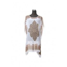 Silk Kaftan Top - White