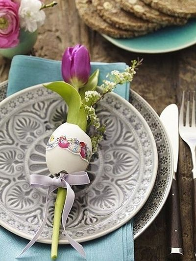 A really sweet idea for your table settings.