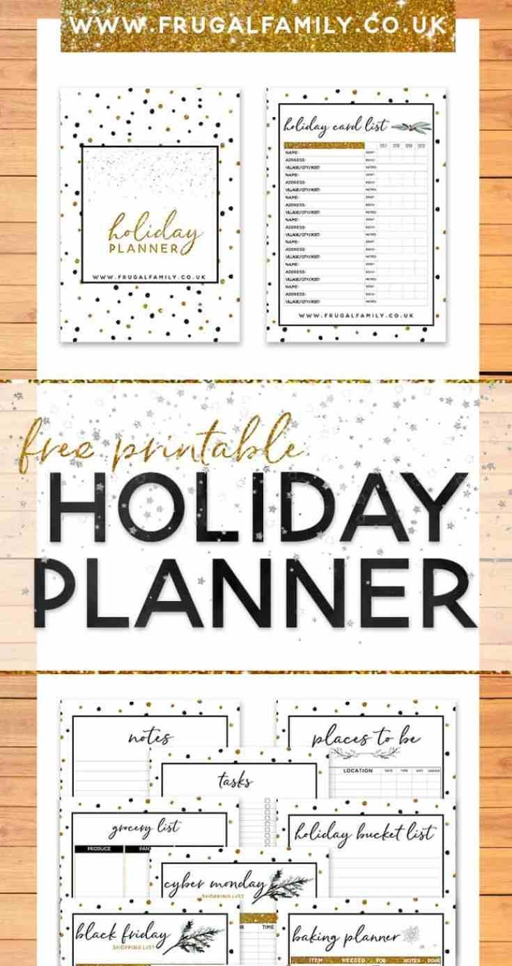 Amazing free printable #christmas holiday planner with space to record everything from your Christmas meal plan to your Christmas budget and lots more in between. #freeprintable